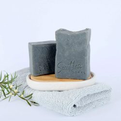 Goats milk and charcoal soap